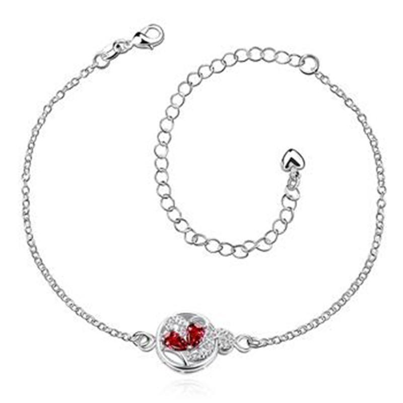 Best selling high quality new fashion popular exquisite silverware classic temperament retro carved round silver anklets