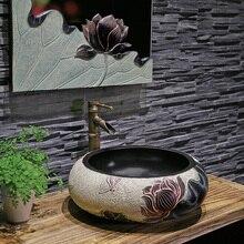 Китайский креативный умывальник выше счетчика бассейна сад отель умывальник искусство шкаф комбинация lw01016532