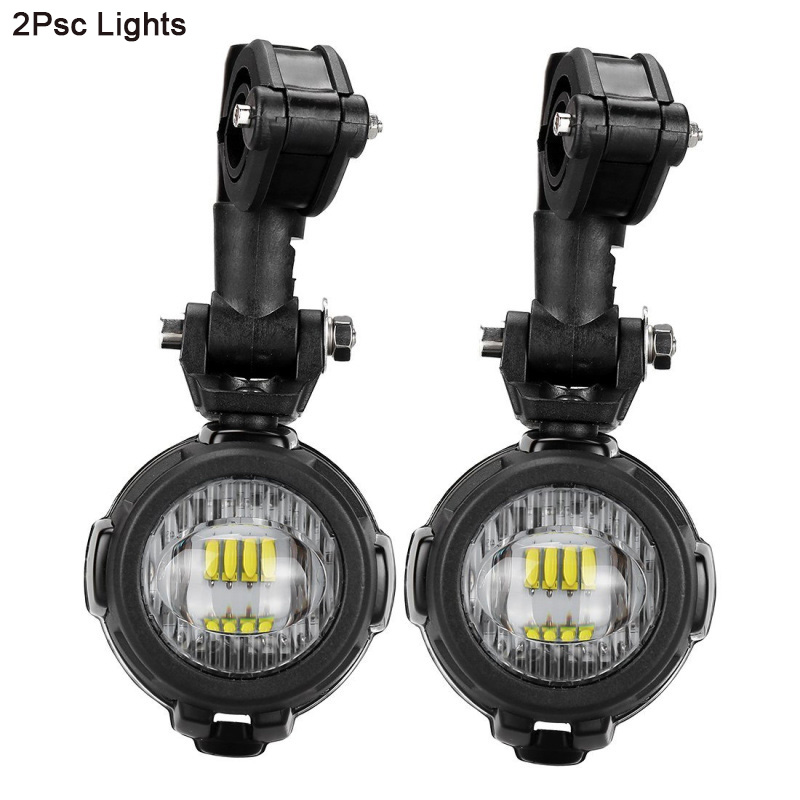 cheapest FADUIES 2Pcs set Universal Motorcycle LED Auxiliary Light Car Fog Light Assemblie Driving Lamp For BMW R1200GS ADV F800GS