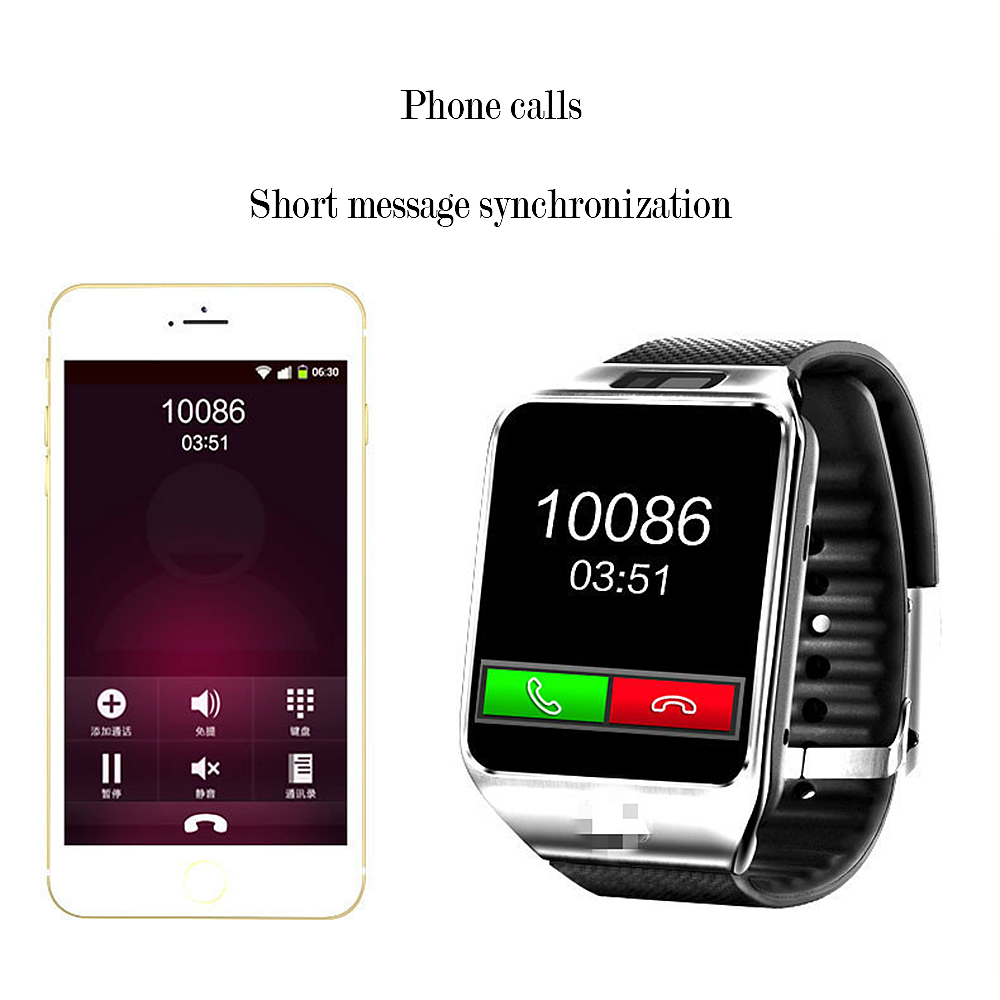 New Bluetooth Smart Watch Smartwatch DZ09 Android Phone Call Relogio 2G GSM SIM Card Camera for IPhone Samsung Xiaomi PK GT08 A1 in Digital Watches from Watches