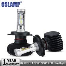 Oslamp H4 Hi короче спереди и длиннее сзади) H7 H11 9005 9006 Автомобильный светодиодный головной светильник лампы CSP чипы авто светодиодный налобный фонарь светодиодный светильник лампы 50 Вт 8000LM 6500K 12v 24v
