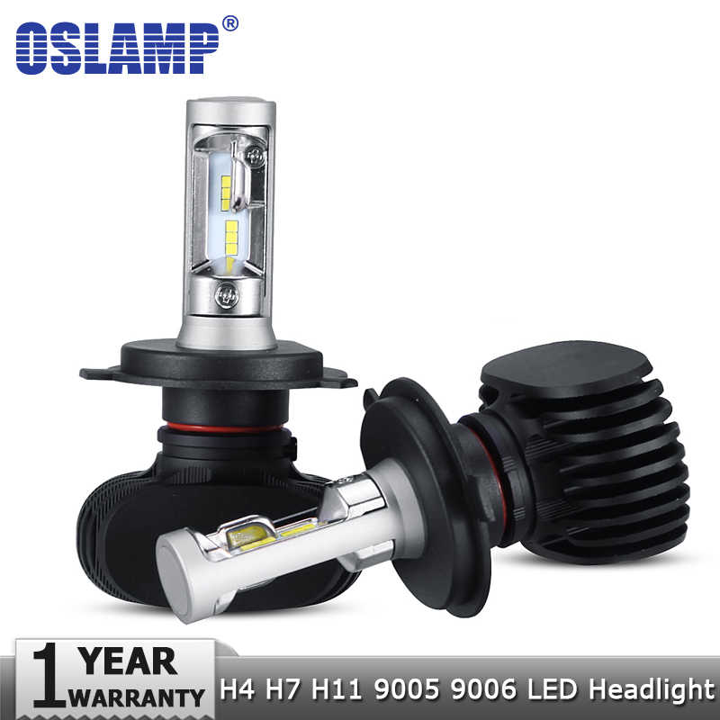 Oslamp H4 Hi lo H7 H11 9005 9006 Car LED Headlight Bulbs CSP Chips Auto Led Headlamp LED Light Bulbs 50W 8000LM 6500K 12v 24v