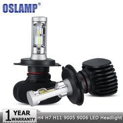 Oslamp H4 Здравствуйте lo H7 H11 9005 9006 автомобилей светодио дный лампы CSP C Здравствуйте ps Авто светодио дный фары светодио дный лампочки 50 Вт 8000LM 6500