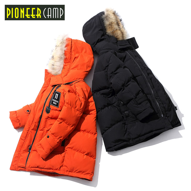 Pionee Camp Kids 2017 New Boys Youth Children Winter Coat Jacket For Girl Boy Winter Coats Jackets Children's Fur Coat a15 girls jackets winter 2017 long warm duck down jacket for girl children outerwear jacket coats big girl clothes 10 12 14 year