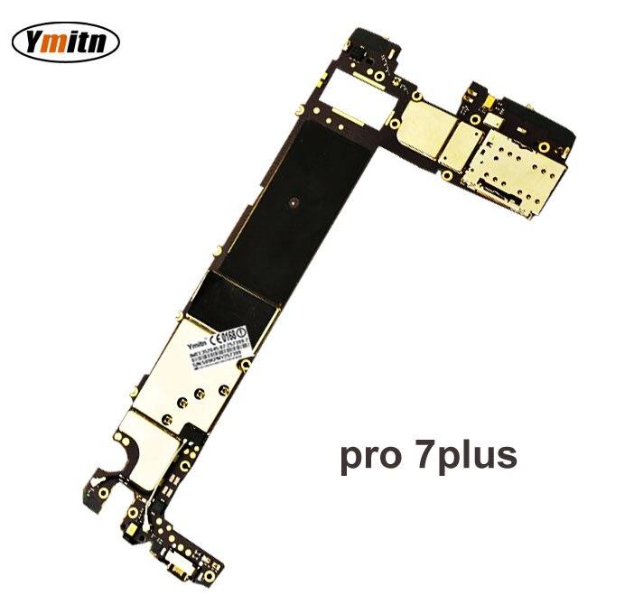 Ymitn Débloqué Électronique Panneau Carte Mère Carte Mère Circuits Flex Câble Avec OS Pour Meizu Pro 7 7 Plus 7 Pro7 plus