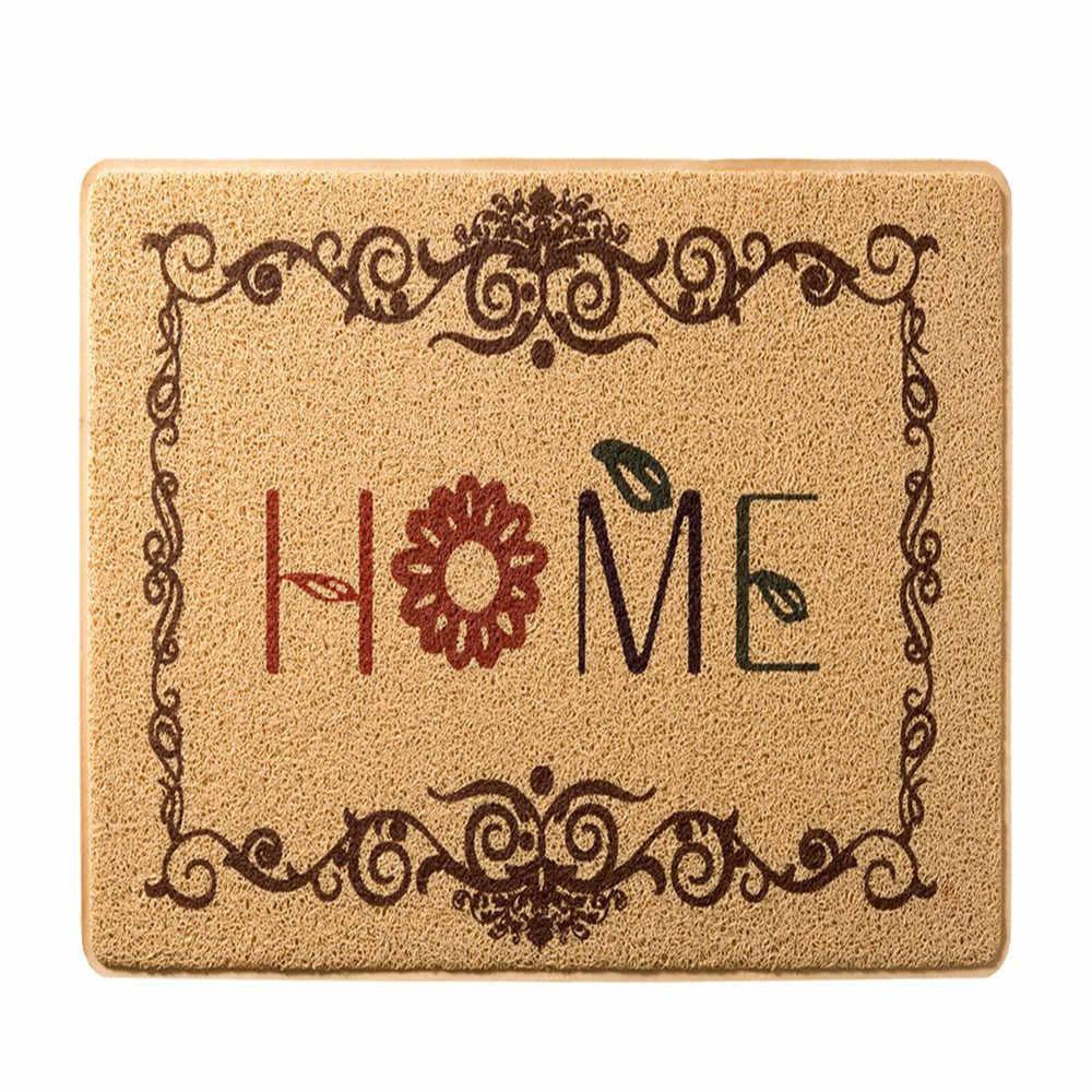 PanlongHome Doormat Entrance Carpet Bedroom Hallway Kitchen Door Bathroom Anti-slip Mat Bathroom Absorbent Mats