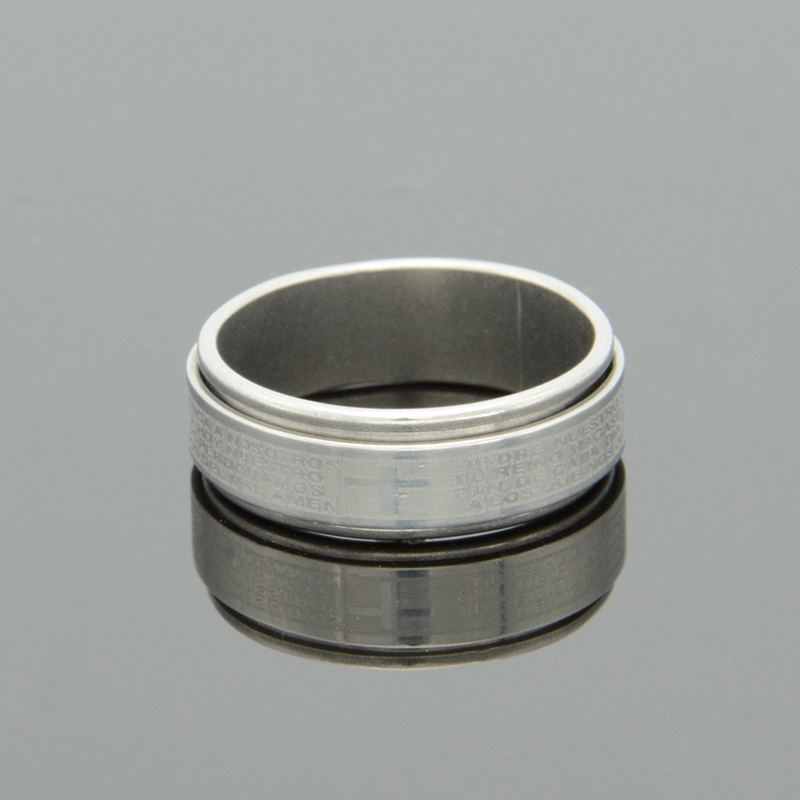 Mens Band Rings Stainless Steel Laser Cross Finger Rings OL Style Fashion Jewelry Rings Wholesales