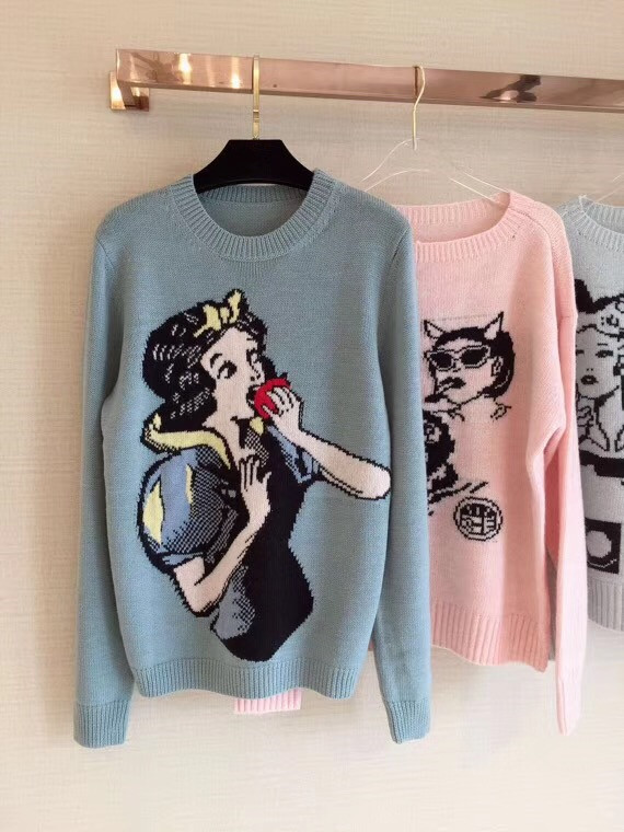 2018 woman ladies jacquard cartoon sweater knitted pullover