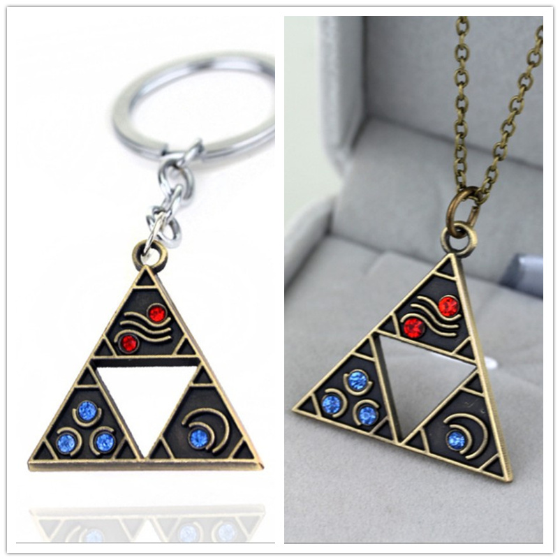 Game The Legend of Zelda: Breath of the Wild Necklace Pendent Zelda Logo Alloy Pendant Cospaly Accessories Prop image