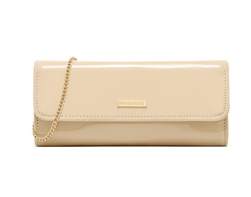 New Elegant Pure 3 Color Dinner Banquet Bag PU Leather High Quality Evening bag with chain HBF37 (8)