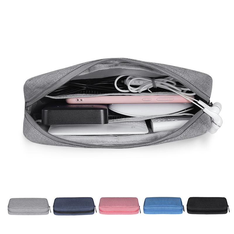 Phone Case Bag For IPhone Samsung Xiaomi Pouch Travel Headphones Storage Bag Digital Accessories Portable Charger Data Cable USB