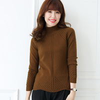Autumn Winter Women Cashmere Sweater Thicken Turtleneck Pullover Angora Knitted Sweaters Warm Slim Tops Long Sleeve