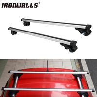 Ironwalls 2X Car Roof Rack Cross Bars With Anti Thief Lock Key Snowboard Bike Rack Luggage