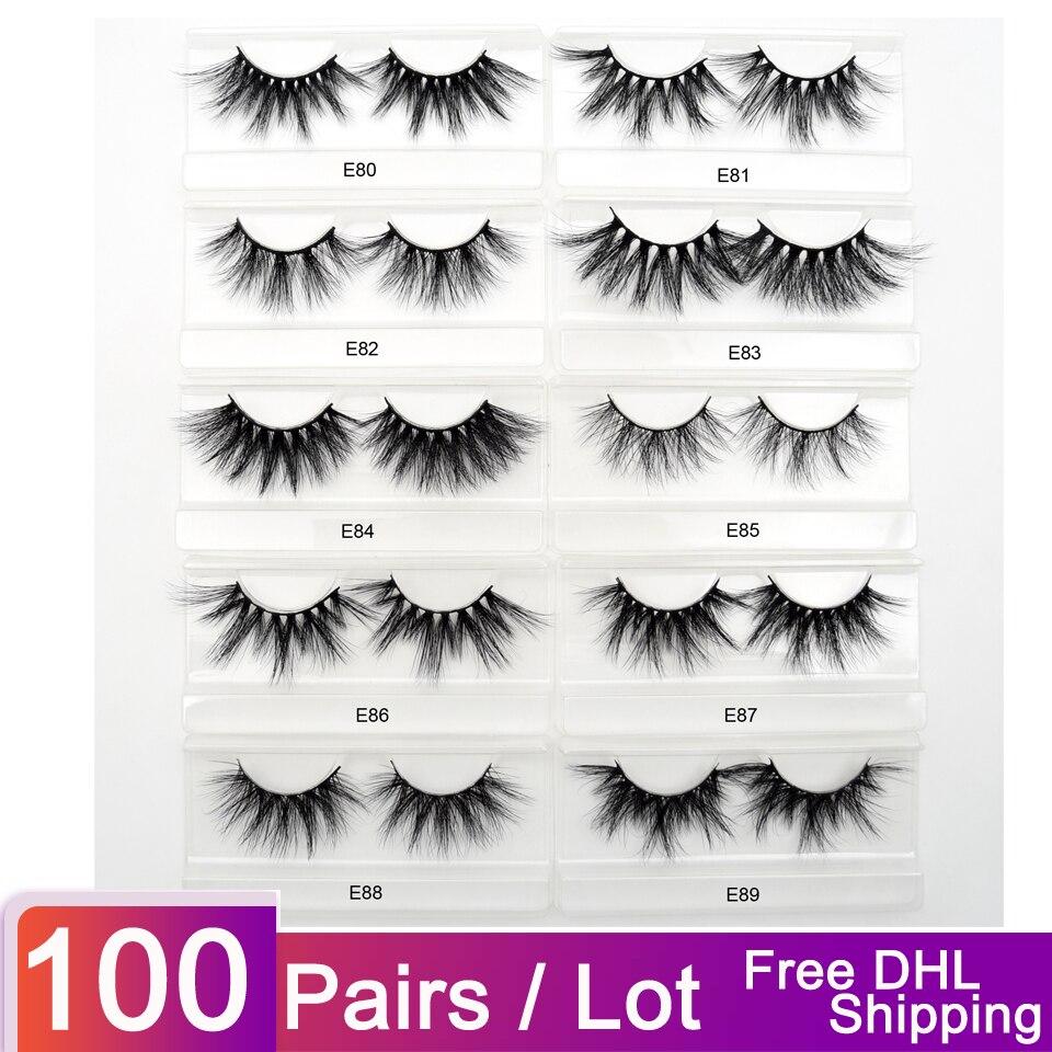 100pairs lot free DHL visofree false eyelashes 25mm eyelashes 3d mink lashes eyelashes extension dramatic mink