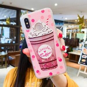 Image 5 - Liquid Quicksand Phone Case For Xiaomi Redmi Note 5 Pro Mi 8 Love Heart Glitter Cover For Redmi Note 4X Luxury Glitter Coques