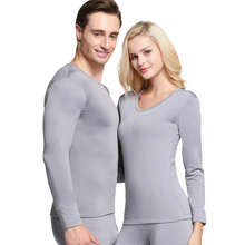 Matching Winter Warm Thermal Underwear Set For Women Man Solid Simple Elastic Female Male Sleep Wear Thermal Couple Clothing New