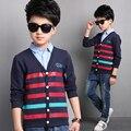 Top quality crianças outwear teeage meninos cardigan meninos blusas de design da marca de moda casual outono inverno roupas crianças camisola