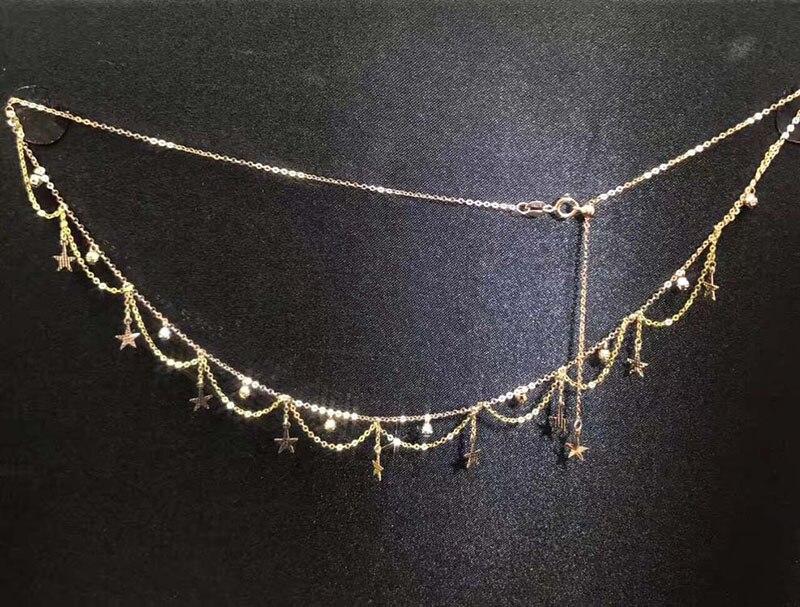 Sieraden 18 k Au750 gouden Ketting huwelijksgeschenken W 102-in Kettingen van Sieraden & accessoires op  Groep 3