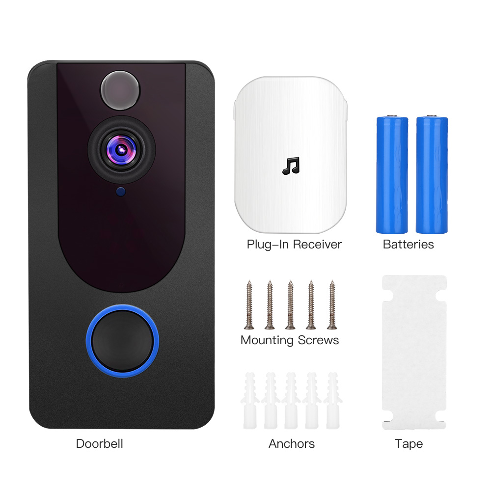 1080P Wifi Camera For Door Wireless Call Night Vision Smart Video-Eye PIR Motion Detection APP Control For IOS Andriod Doorbell image