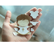 Cute Baby Boy and Girl Set Metal Cutting Dies for DIY Scrapbooking Embossing Paper Cards Making Crafts Templates New Dies 2019 teddy bear and plush rabbit metal cutting dies for diy scrapbooking embossing paper cards making crafts templates new dies 2019