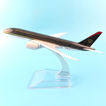 airlines boeing 787 royal jordanian  aircraft model aircraft model simulation 16 cm alloy christmas toy gift for kids 16cm 787 a380 747 777 airlines metal alloy model plane aircraft toy wheels airplane birthday gift collection desk toy