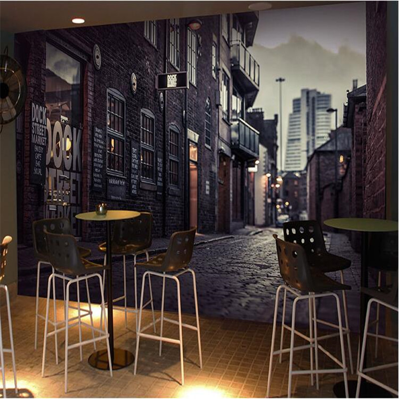 Popular wall street entertainment buy cheap wall street for Cafe mural wallpaper