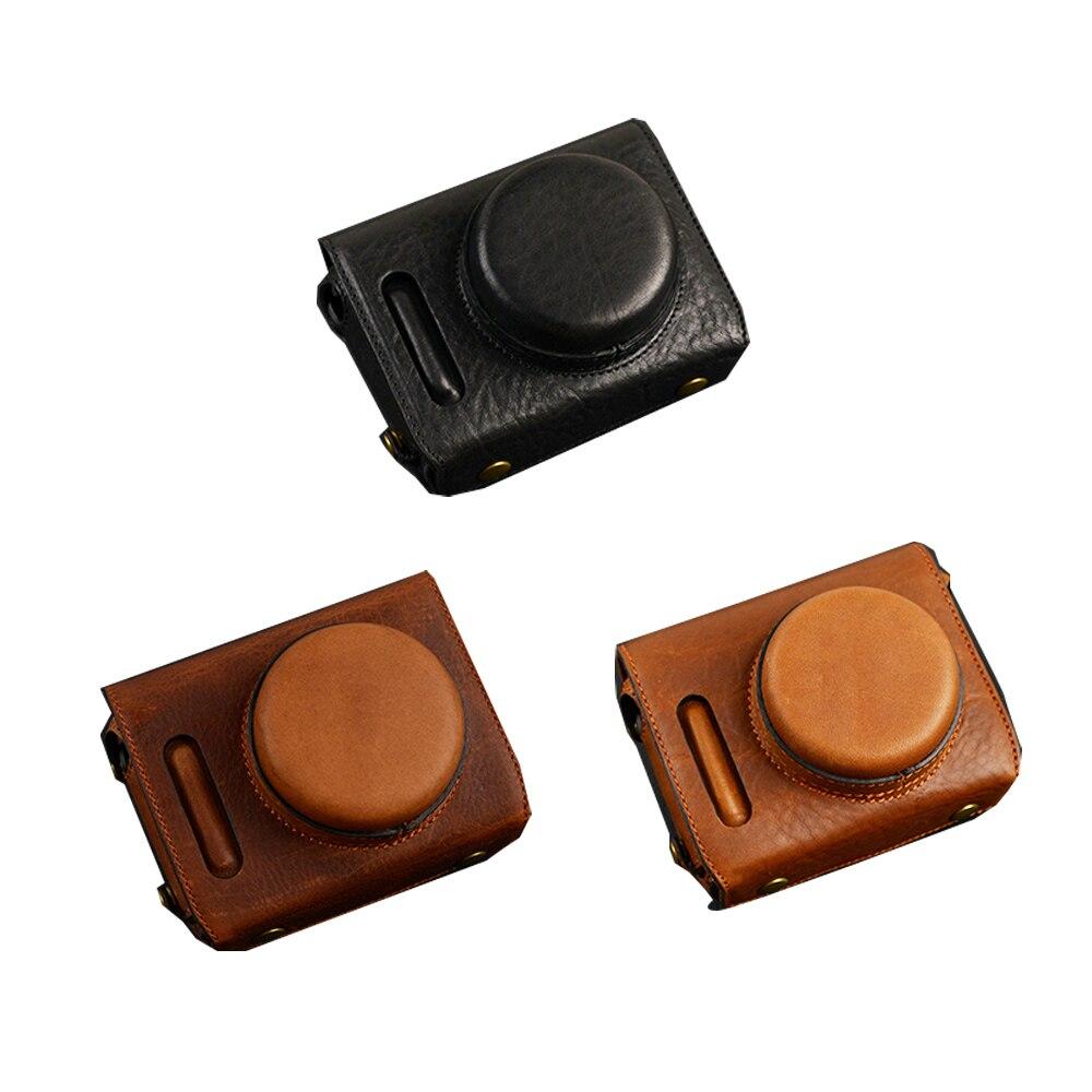 VR Handmade Genuine Leather Camera case For Fujifilm X100F X100 F Camera Bag Full Cover