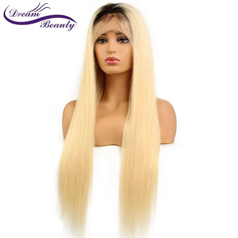 Мечта Красота 1B/613 прямые волосы Синтетические волосы на кружеве Искусственные парики предварительно сорвал парик бразильский человечески...