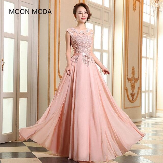 53a48ca08 Venda Longo eveing vestido de Dama honra coral colorido vestidos ...