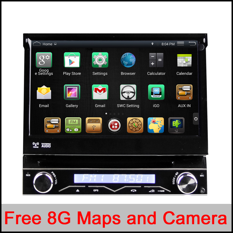 RK3188 Quad-Core CPU Pure Android 4.4.4 1 din Universal car dvd player Android 4.4 car audio stereo HD Capacitive GPS car radio