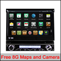RK3188 CPU Quad-Core Pure Android 4.4.4 1 din jogador do carro Universal dvd jogador Android 4.4 HD Capacitivo GPS rádio do carro de áudio estéreo do carro