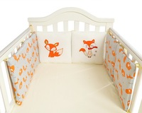 Cotton Animal Fox Baby Bedding Bumpers Bed Protection Bed Around Cushion Baby Bumpers