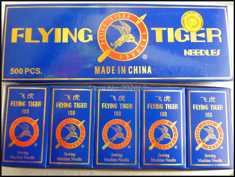 Domestic Sewing Machine Needles,HAx1,15x1,90/14,Flying Tiger Brand,500Pcs Needles/Lot,For Singer,Brother,Janome,Feiyue...