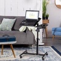 Goplus Winkel und Höhenverstellbarer Laptop Schreibtisch Roll Notebook Schlafsofa Tischständer Moderne Home Office Computer Desks HW56538