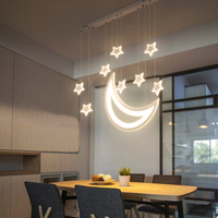 Звезды и луна подвесные светильники в современном светодио дный подвесные светильники для Гостиная Обеденная бар украшения дома подвесной