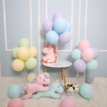 BTRUDI 10 inch macarons candy latex balloonTransparent Table Floating Base Balloon birthday party decoration wedding supplies