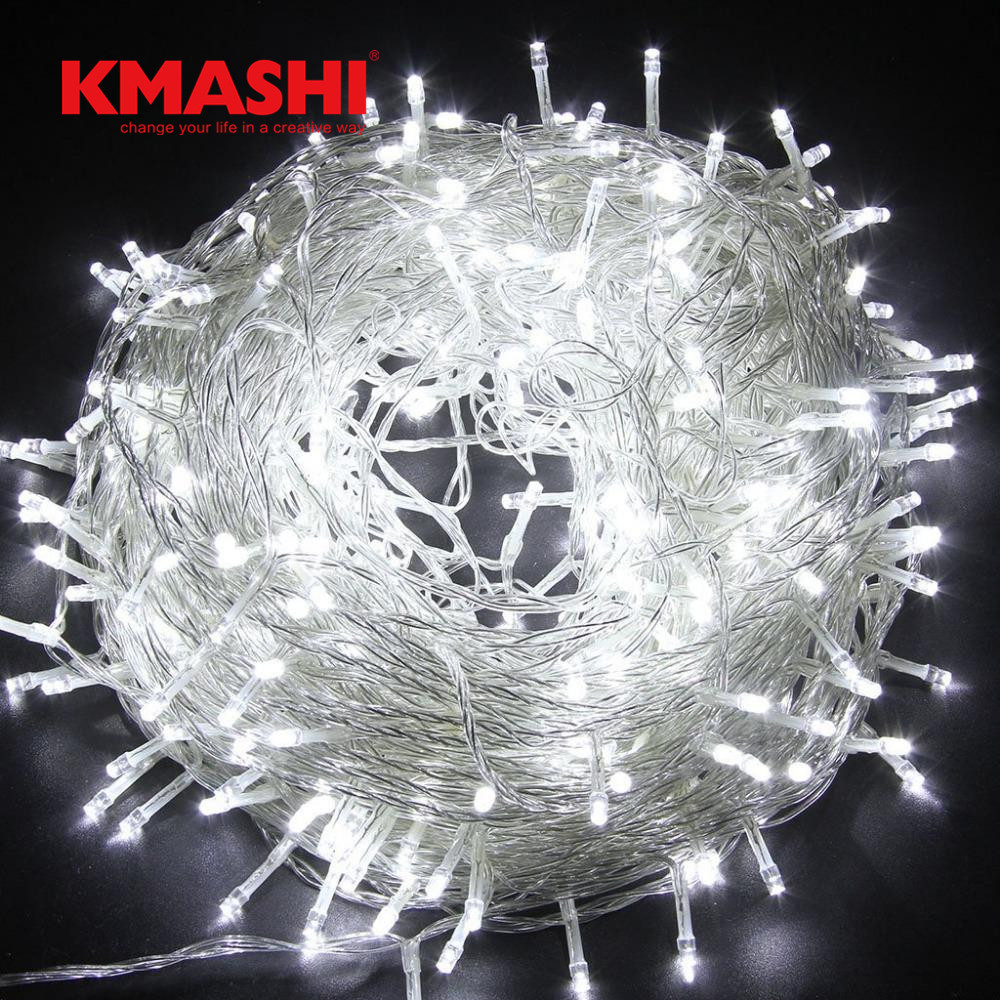 Kmashi White 100M LED String Fairy Lights Holiday Decoration AC220V Waterproof Outdoor Light 8 Mode Controller Garland Lighting