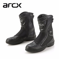ARCX Leather Motorcycle Boots summer Breathable Mid calf shoes Racing Motorbike botas Racing Boot Motorcycle boots