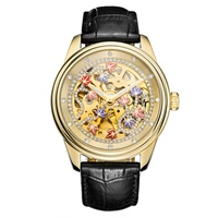 Relogio Feminino Automatic Mechanical Watches Woman Watch Ladies Fashion Watch Top Brand Luxury Dress Clock Drill Hollow Table