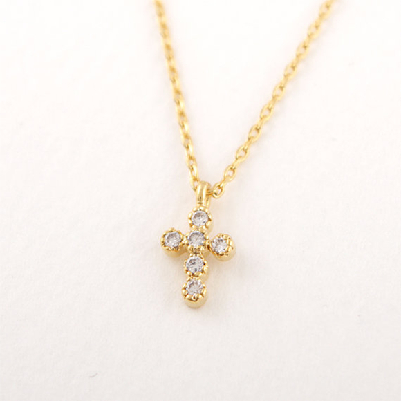 Jesus piece 1pcs 18k gold plated crystal studded cross necklace jesus piece 1pcs 18k gold plated crystal studded cross necklace pendant cruz neclase for women religious aloadofball Gallery