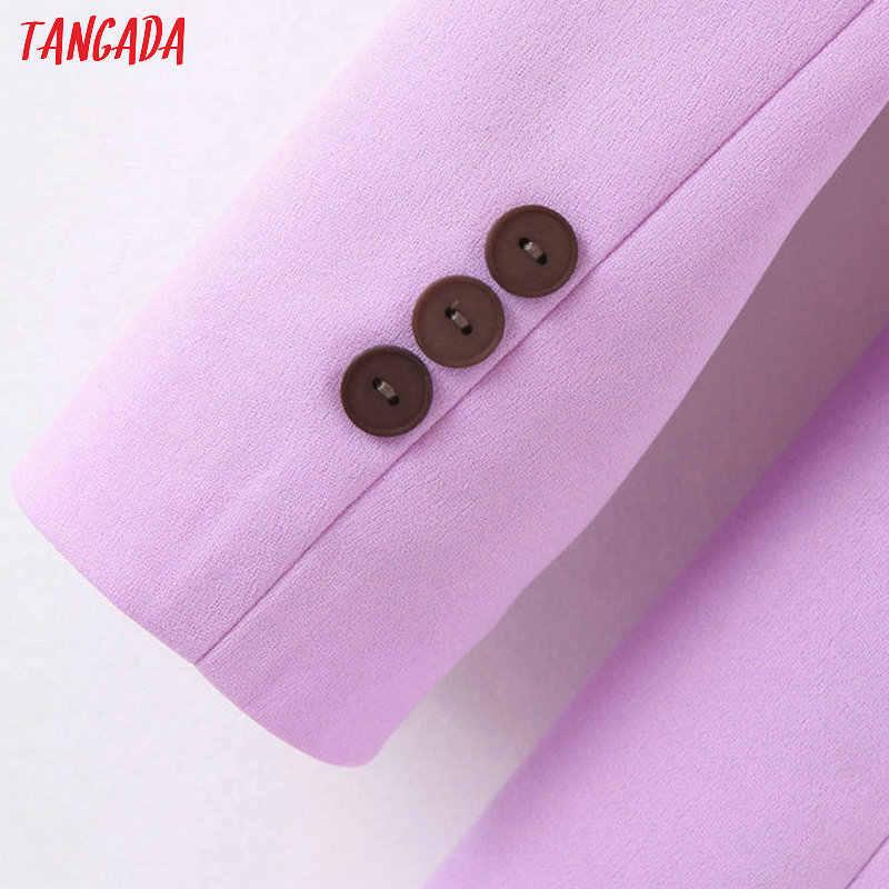 Tangada moda donna blazer viola manica lunga stile coreano blazer femminile ufficio signore nuovo arrivo autunno outwear SL404