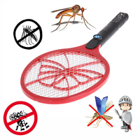 AC 220V Rechargeable Electric Mosquito Swatter With LED Light Insect Pest Bug Fly Zapper Swatter Hand