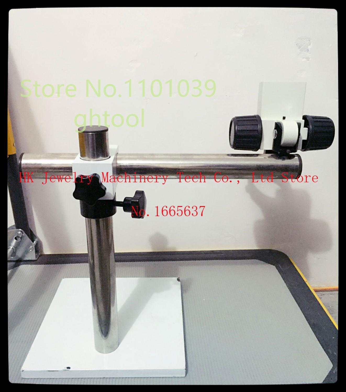 Livraison gratuite diamant Microscope Stand de haute qualité bijoux outil réglable Microscope Stand avec Focus bras bijoux outils