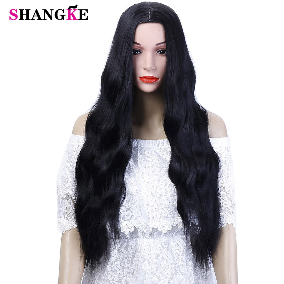 SHANGKE 26'' Long Kinky Curly Hair Wigs For African Americans Heat Resistant Synthetic Wigs For  Women 5 Colors Available