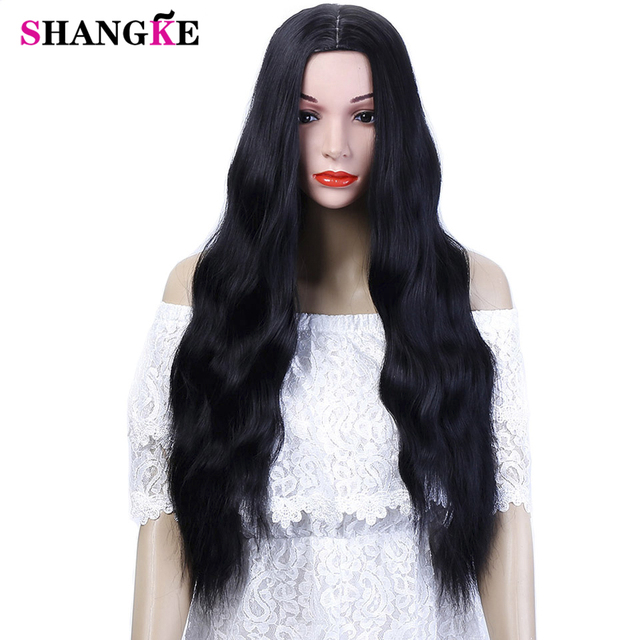 SHANGKE 26   Long Kinky Curly Hair Wigs For African Americans Heat  Resistant Synthetic Wigs For Women 5 Colors Available 389eded83
