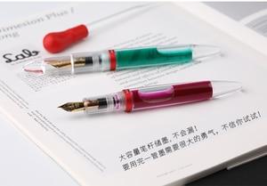Image 4 - מונמן M2 שקוף עט נובע EF ציפורן מתנת 1.1MM ציפורן כתיבה ספר משרד penna stilografica