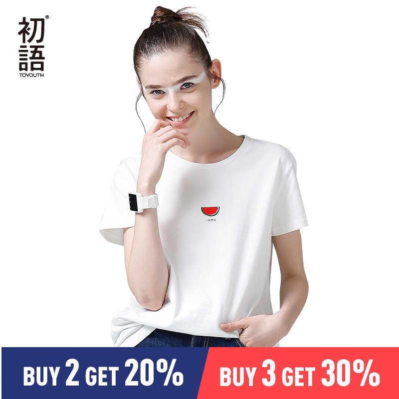 923a34f013ab4 Toyouth ヒットカラーエッジ Tシャツ女性の基本的な綿 Tシャツカジュアル ...