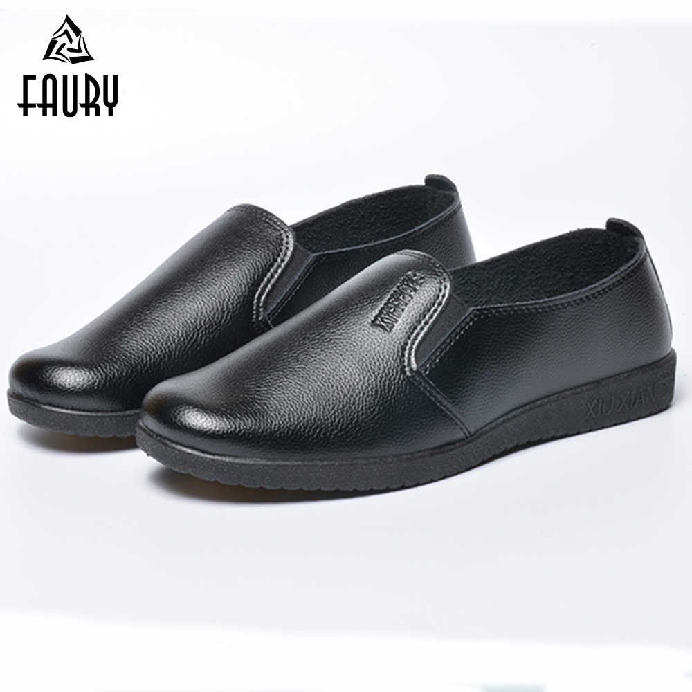 Unisex Chef Shoes Non skid Casual Black