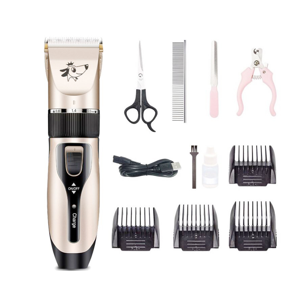 Dog Hair Trimmer Electrical Pet Professional Grooming Machine Tool usb Rechargeable Shavers Hair Cutter Cat Dog Haircut clipper image