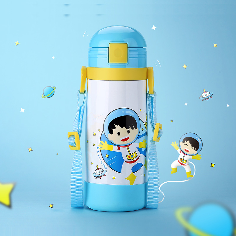 Thermose bottle for kids 304 stainless steel vacuum flasks thermal cup with straw rope portable (6)